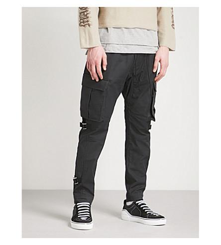 MAGIC STICK Restraint cotton trousers (Black