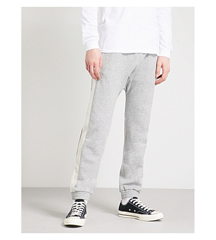 MAGIC STICK Classick cotton jersey jogging bottoms (Heather+grey
