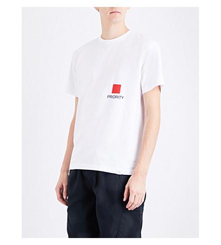 MAGIC STICK Priority cotton-jersey T-shirt (White