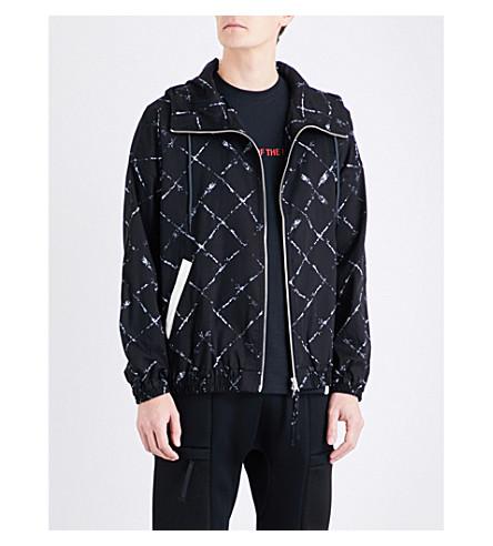 MAGIC STICK Graphic-print hooded cotton jacket (Black