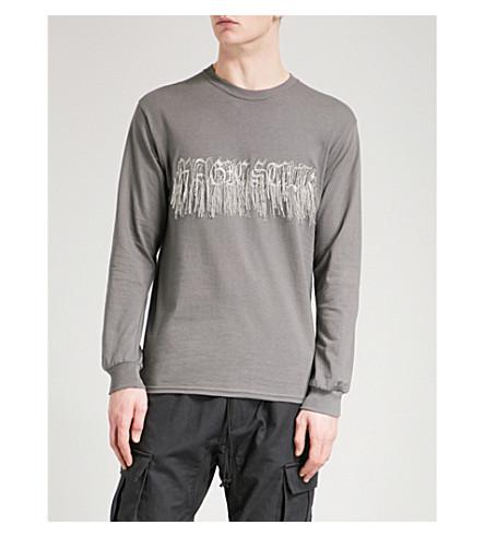 MAGIC STICK Embellished cotton-jersey sweatshirt (Charcoal+grey