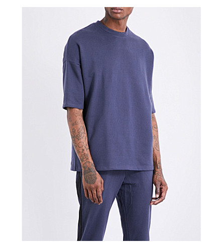 ADYN Short-sleeved cotton-jersey sweatshirt (Navy