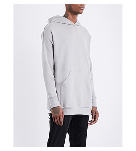 ADYN Lace-up cotton-jersey hoody (Olive