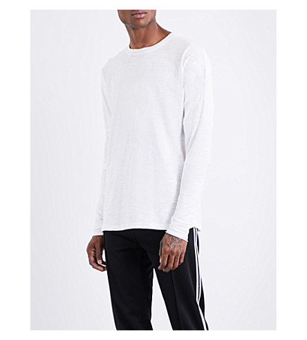 ADYN Crewneck cotton-jersey top (White