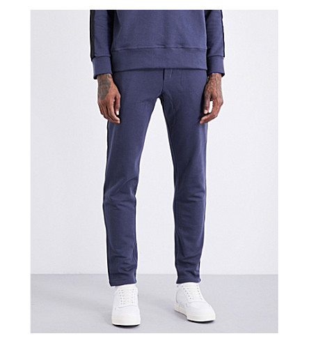 ADYN Striped-sides cotton-jersey jogging bottoms (Navy