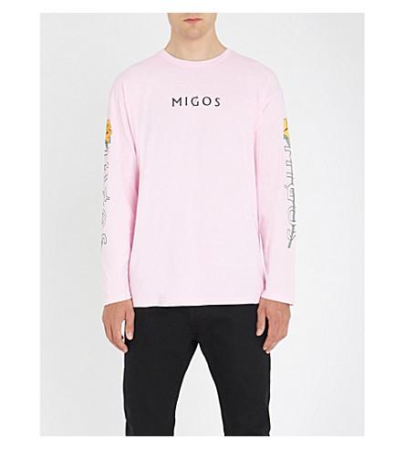 MIGOS de de Rosa con de estampado jersey algodón Top logo 8YwZqUU
