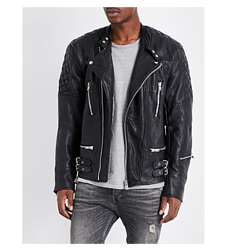 DEADWOOD Ryder leather jacket (Black