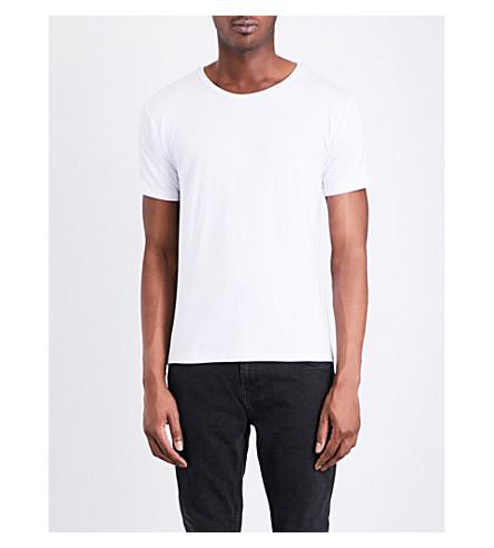 DEADWOOD Crewneck jersey T-shirt (White