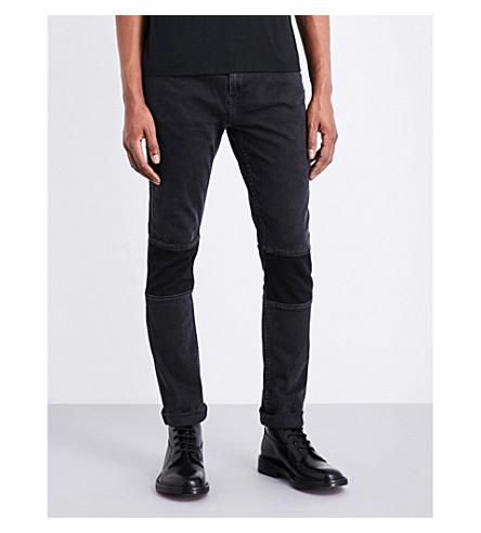 DEADWOOD Mid-rise straight jeans (Black