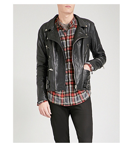 DEADWOOD Vinnie recycled leather jacket (Black