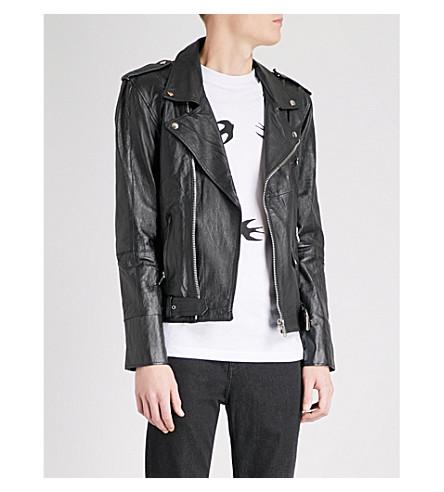 DEADWOOD Queen leather jacket (Black
