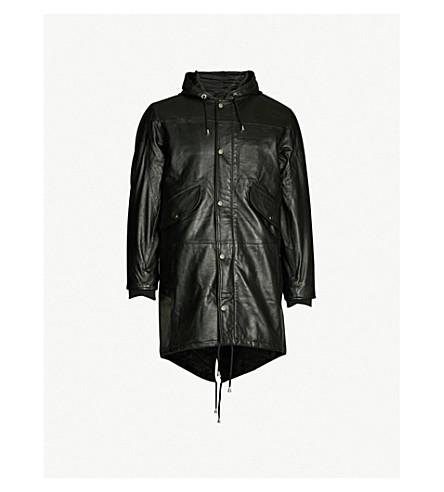 DEADWOOD Payne leather parka jacket (Black