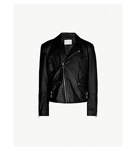 DEADWOOD Reno fringed leather jacket (Black