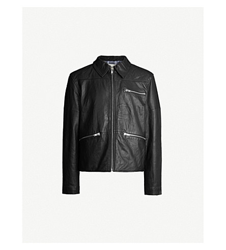 DEADWOOD Samson leather jacket (Black