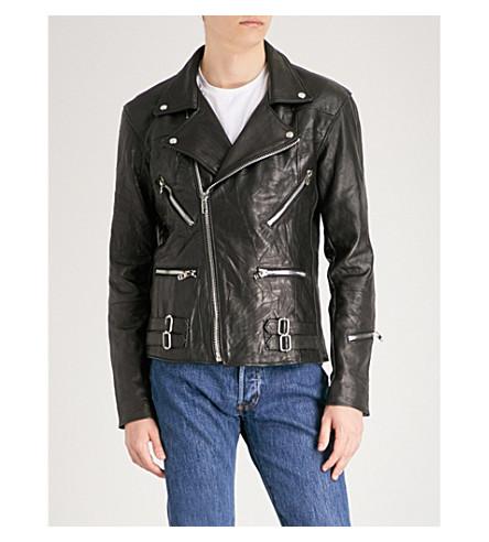 DEADWOOD Vinnie Dog recycled leather jacket (Black