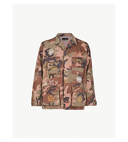 HOLLYWOOD TRADING COMPANY Native camouflage cotton-drill jacket (Rust