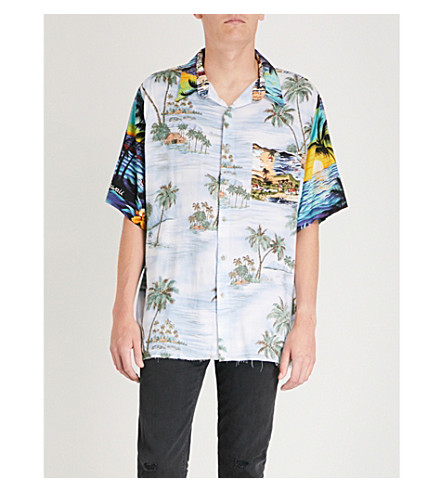 HOLLYWOOD TRADING COMPANY Hawaii Patchwork regular-fit woven shirt (Multicolour