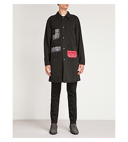 HOLLYWOOD TRADING COMPANY Bandana-print cotton jacket (Black