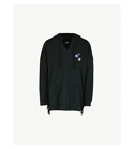 好莱坞贸易公司徽标-印刷棉衫和皮革 hoody (Antrax