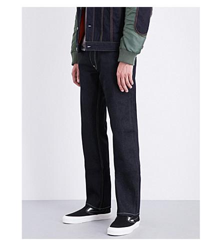 EVISU Phoenix-embroidered regular-fit straight jeans (Indigo(raw)
