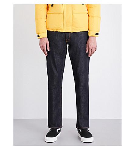 EVISU Koi-embroidered regular-fit striaght jeans (Indigo(raw)