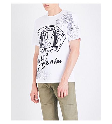 EVISU Graphic-print cotton-jersey T-shirt (White