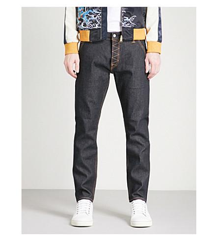 EVISU Camouflage-print regular-fit straight-leg jeans (Indigo