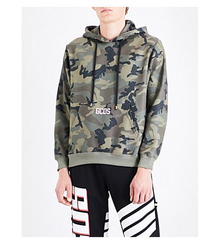 GCDS Camouflage cotton-jersey hoody (Camo
