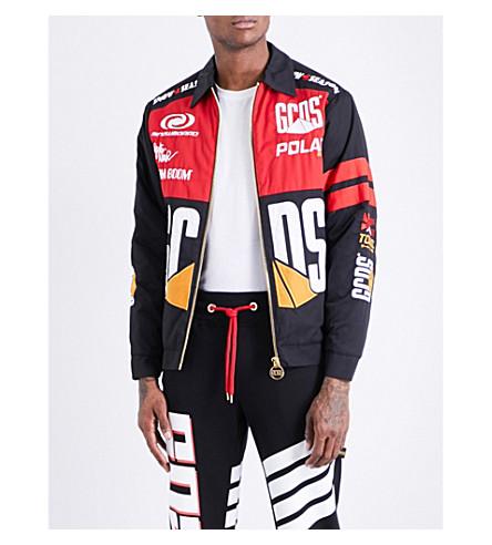 GCDS Sponsor cotton-twill jacket (Black