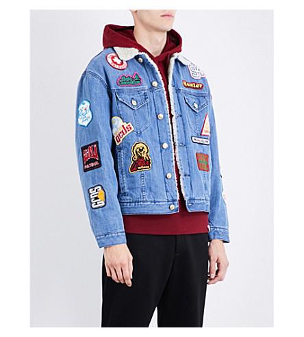 GCDS Patch appliqué denim jacket (Denim