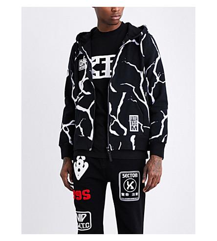KTZ Lightning-print cotton-jersey hoody (Black