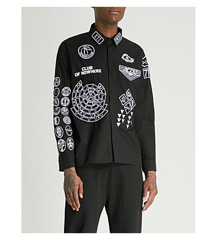 KTZ Scout patch boxy-fit cotton-twill shirt (Black