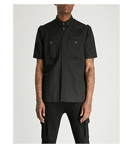 KTZ Three Ways regular-fit cotton-twill shirt (Black