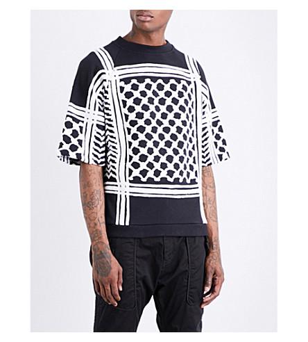 KTZ Keffiyeh cotton-jersey sweatshirt (Black+white