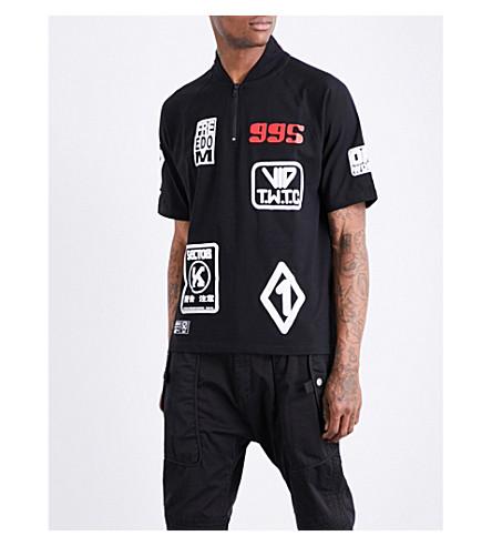KTZ Patch-detailed cotton-jersey T-shirt (Black