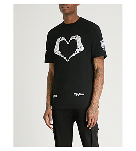 KTZ Logo-print cotton-jersey T-shirt (Black
