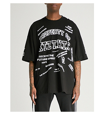 KTZ Lace-sides cotton-jersey T-shirt (Black