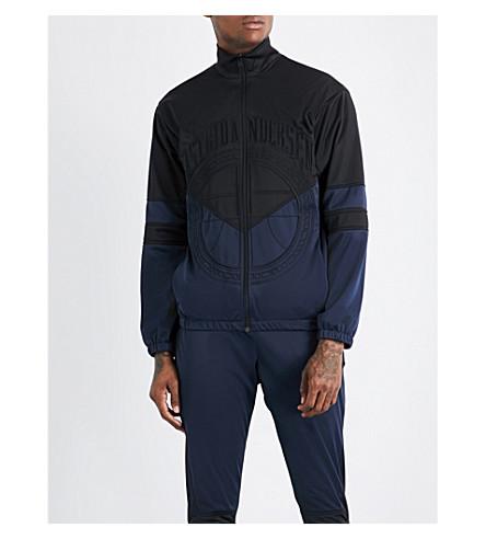ASTRID ANDERSEN Embroidered-logo shell track jacket (Navy+black