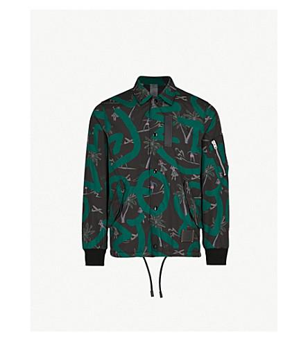 COACH 1941 Coach X Keith Haring printed shell coach jacket (Black+green