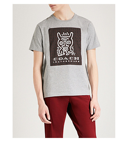 COACH 1941 Coach X Keith Haring Monster cotton T-shirt (Heather+grey