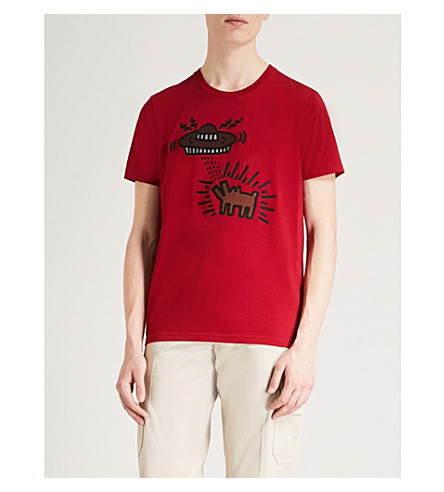 COACH 1941 Coach X Keith Haring UFO Dog cotton T-shirt (Ruby
