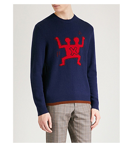 COACH 1941 Coach X Keith Haring knitted-wool jumper (Navy