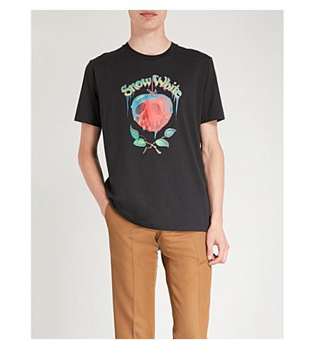 COACH黑迪斯尼棉布球衣 t恤衫 (黑色