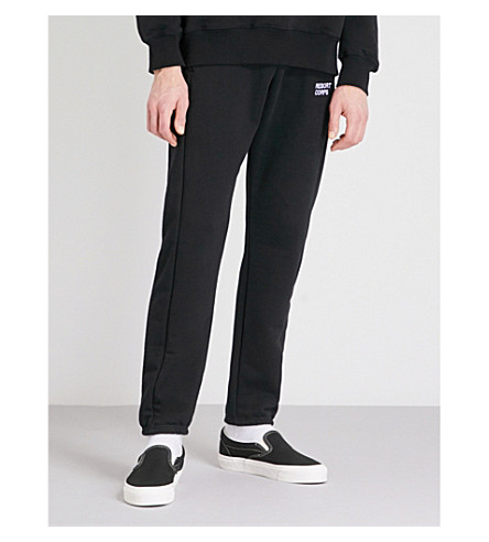 RESORT CORPS Relaxed-fit stretch-cotton jogging bottoms (Black