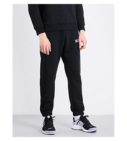 RESORT CORPS Logo-embroidered cotton-blend jogging bottoms (Black