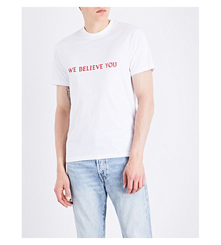RESORT CORPS We Believe You cotton T-shirt (White