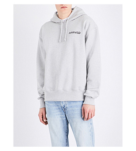 RESORT CORPS Mail Order Pop Over cotton-blend hoody (Grey