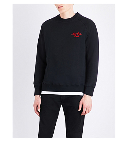 RESORT CORPS Mail Order cotton-blend sweatshirt (Black