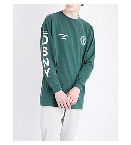 HERON PRESTON Heron Preston x DSNY cotton sweatshirt (Green+white
