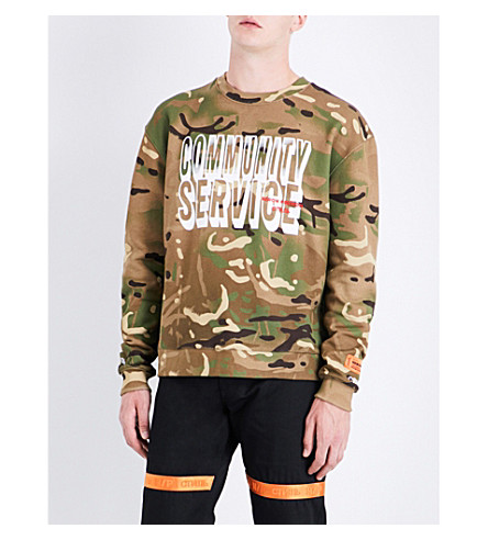 HERON PRESTON Community Service cotton sweatshirt (No+colour+multi